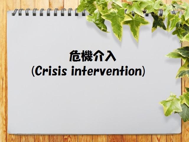 介入 アプローチ 危機